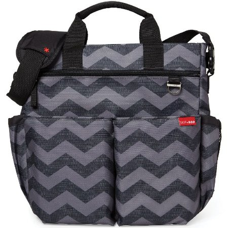 Bolsa Maternidade Diaper Bag Duo Signature Skip Hop Tonal Chevron Cinza