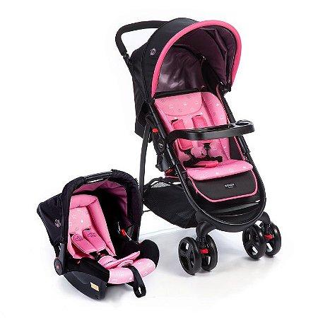 Carrinho de Bebê Travel System Nexus Cosco Rosa - Cosco