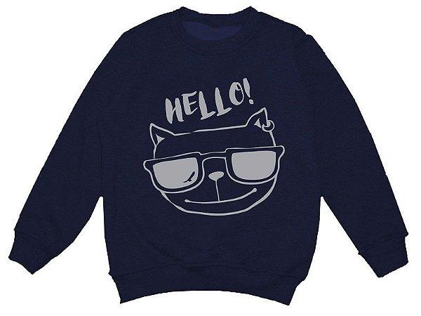 Moletom Hello Azul Marinho Comfy