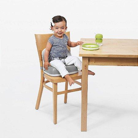 Assento Infantil para elevação com Encosto e Cinto Oxotot Branca e Cinza