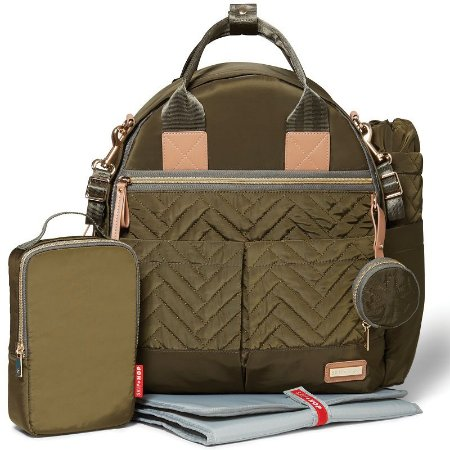 Bolsa Maternidade Diaper Bag Suite 6pc Backpack Olive Skip Hop