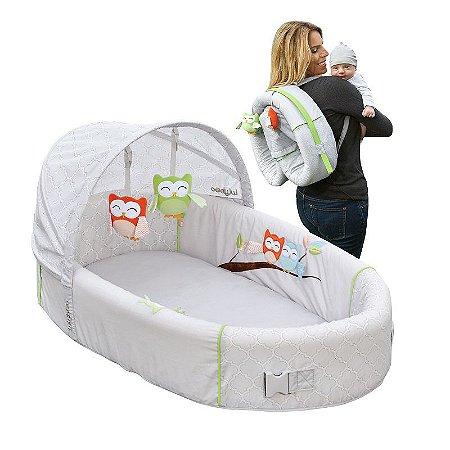 Berço Portátil Premium Coruja - Girotondo Baby