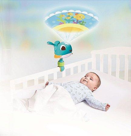 Take Along Móbile Projetor de Luz Baleia Cody Azul - Tiny Love
