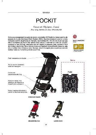 Carrinho de Bebê GB Pockit Vermelho - O menor Carrinho do Mundo