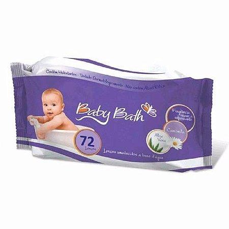 Lenços Umedecidos 72 unidades Aloe Vera - Baby Bath