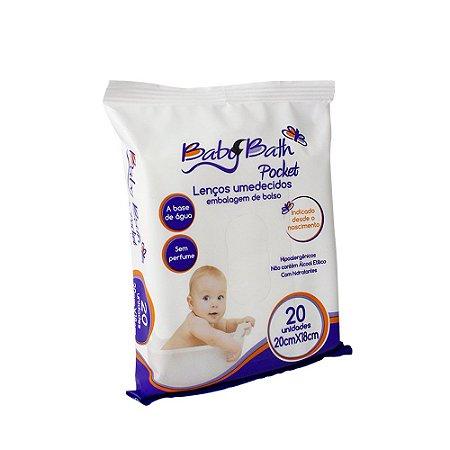 Lenços Umedecidos Pockit com 20 unidades - Baby Bath