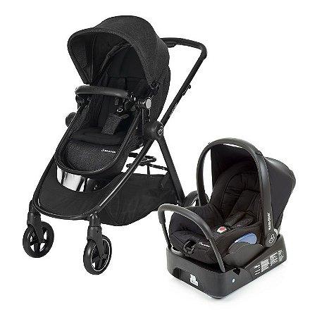 Carrinho de Bebê Travel System Anna Trio Black Preto - Maxi Cosi