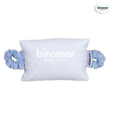 Aparador de Porta para Bebê Matelado Xadrez Azul  - Biramar Baby