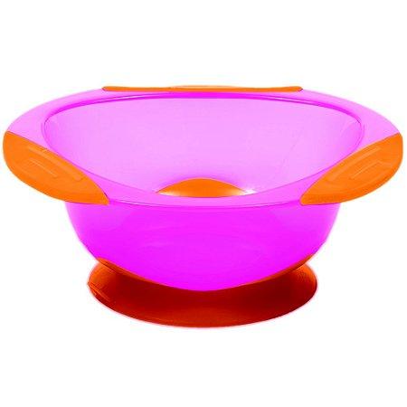 Pratinho Bowl com Ventosa Rosa