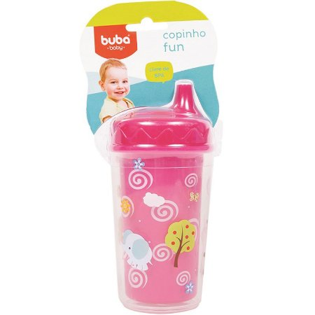 Copinho Fun 250 ml Rosa - Buba