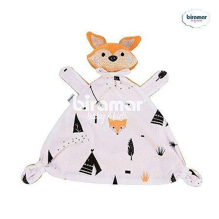 Naninha para Bebê Estampa e Bordado Fox Preto