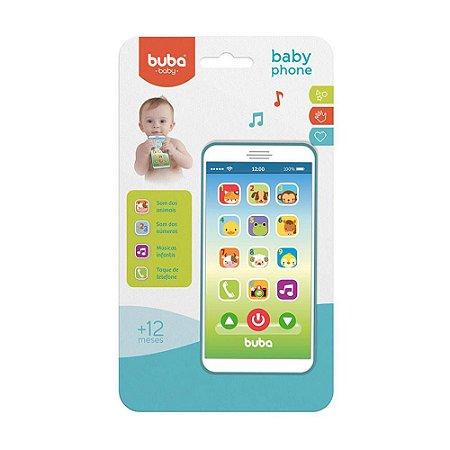 Celular Infantil Baby Phone Musical Azul - Buba
