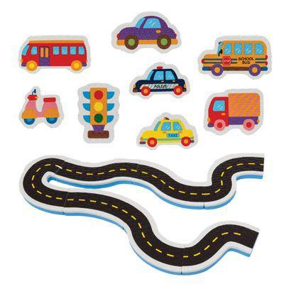 Brinquedo de Banho Carrinhos na Estrada Ônibus - Bubababy
