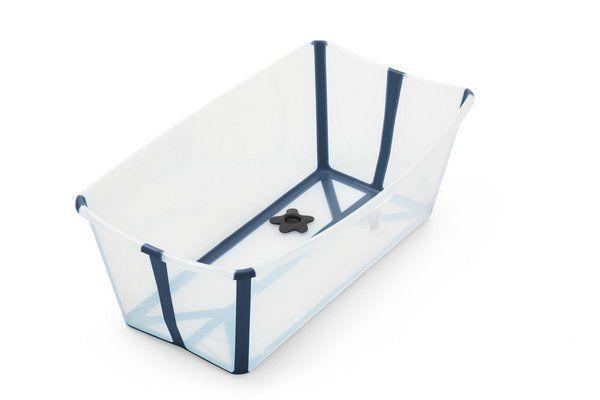 Banheira Portátil Dobrável Transparente e Marinho - Stokke