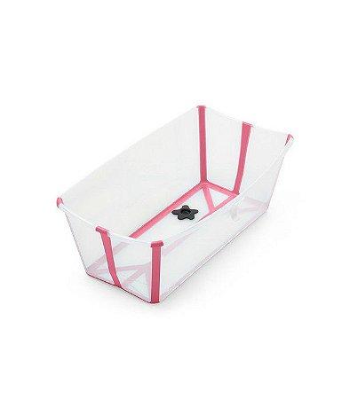 Banheira Portátil Dobrável  Transparente Rosa - Stokke