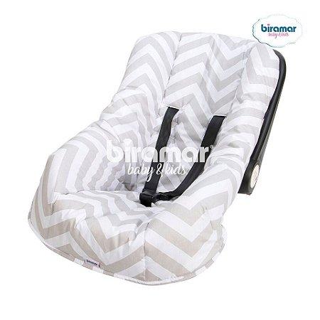 Capa para Bebê Conforto Ajustável Brooklyn Chevron Cinza