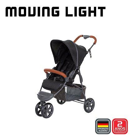 Carrinho de Bebê Moving Light Woven Black Preto - ABC Design