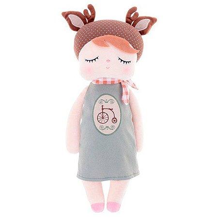 Boneca Doll Angela Doceira Retro Deer Marrom 40 cm - Metoo