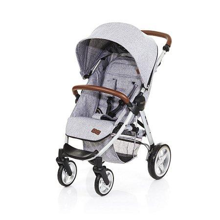 Carrinho de Bebê com Bebe Cinforto  Travel System Avito Graphite Grey Cinza ABC Design + Bebê Conforto Preto Risus