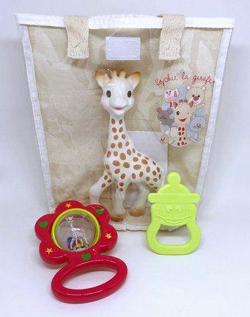 Kit Presente Fresh Touch Sophie La Girafe Chocalho Vermelho