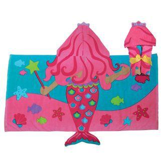 Toalha de Banho Infantil Sereia Rosa - Stephen Joseph