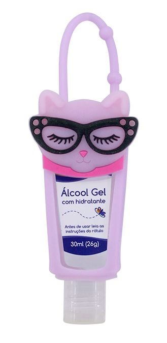 Álcool em Gel Hidratante com Holder 30 ML Gatinha - Baby Bath