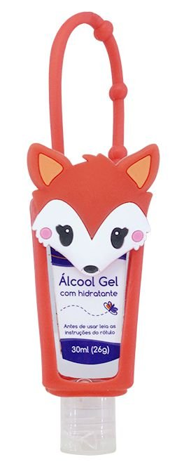 Álcool em Gel Hidratante com Holder 30 ML Raposa - Baby Bath