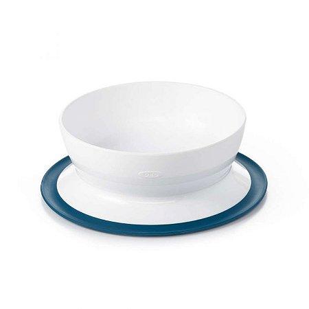Prato Tigela com Suporte de Sucção Ventosa Azul Marinho - Oxotot