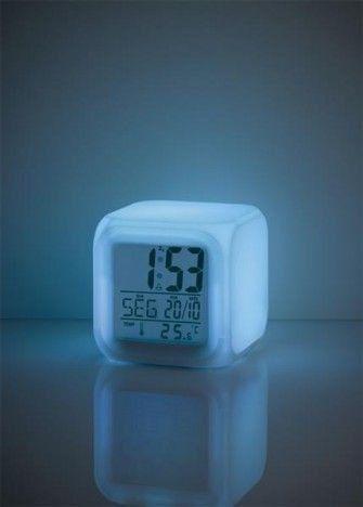 Luz noturna com Relógio Color Fun - Multikids