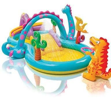 Piscina Playground Mundo Encantado dos Dinossauros 280 L - Intex