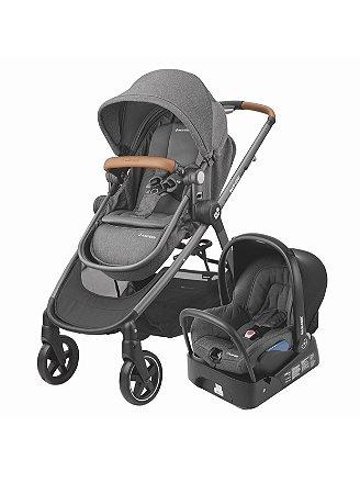 Carrinho de Bebê Travel System Anna Sparkling Gray Cinza - Maxi-Cosi