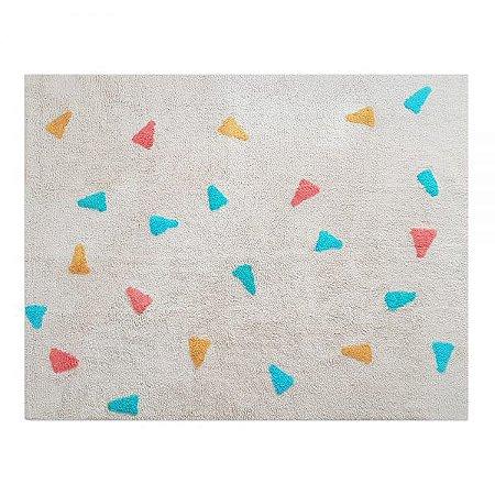 Tapete Confetti Bege , Multicolorido - Nina & Co.