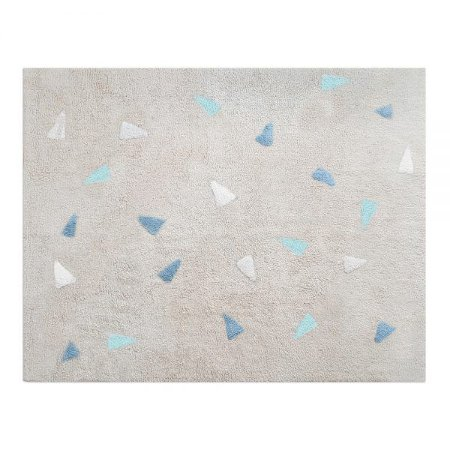 Tapete Confetti Bege , Azul Branco e Hortelã - Nina & Co.