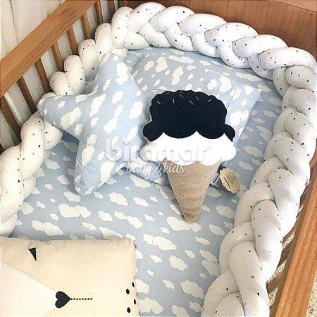 Protetor Trança Berço/Cama 3.90M New York Mini Triangulo Colorido - Biramar baby