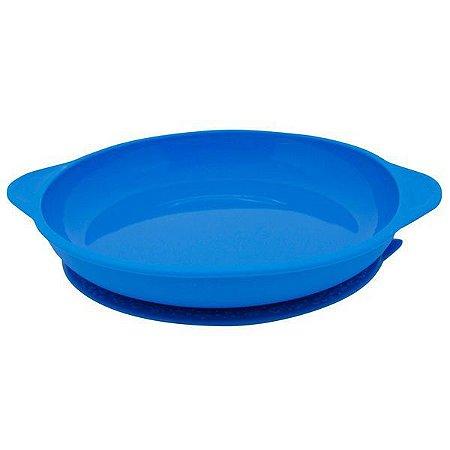 Prato de Silicone com Ventosa Azul - Marcus e Marcus