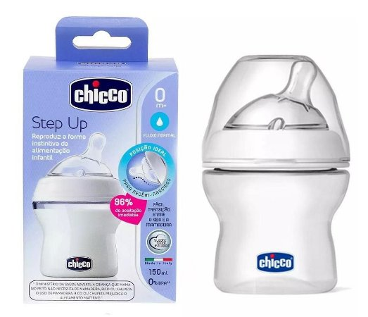 Mamadeira Step Up 150 ml Fluxo Normal - Chicco