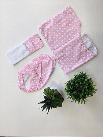 Kit Fofura 3 Pç Rosa - Minha Casa Baby