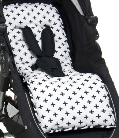 Protetor de Carrinho de Bebê Modern Black - Momis Petit