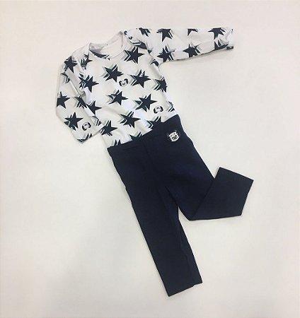 Conjunto Body Calça Estrelas - Tigor T. Tigre