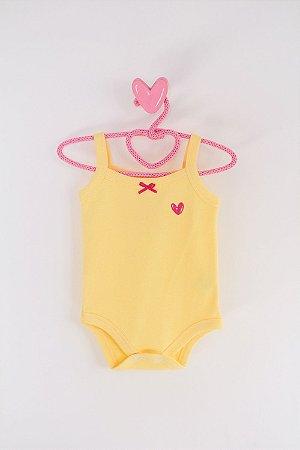 Body Belly Liso Verão Amarelo - Miss Filha