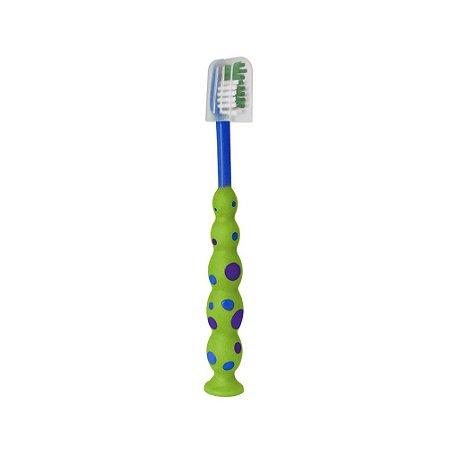 Escova Dental Infantil Verde e Azul - Baby Bath