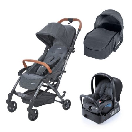 Carrinho de Bebê Travel System Laika Complete Sparkling Grey - Maxi-Cosi
