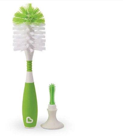Escova de Mamadeira Com Ventosa Verde - Munchkin