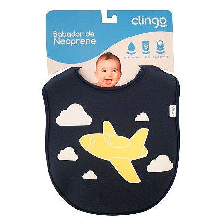 Babadores de Neoprene Avião - Clingo