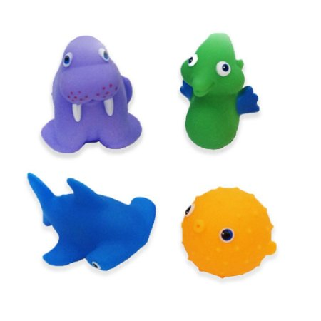 Brinquedo para Banho Animais Marinhos II - Dican