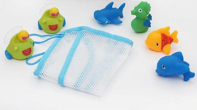 Brinquedo para Banho Rede com Ventosa - Dican