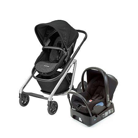 Carrinho de Bebê Travel System Lila Black Preto - Maxi-Cosi