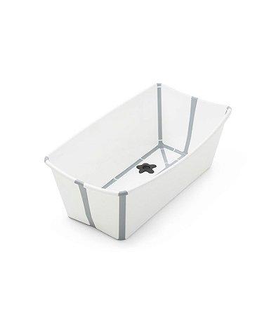 Banheira Flexível Branca e Cinza com Plug Térmico -  Stokke