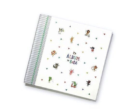 Album do Bebê Bichinhos Cinza - Coloré