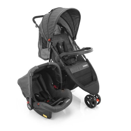 Travel System Jetty DUO Preto Mescla - Cosco
